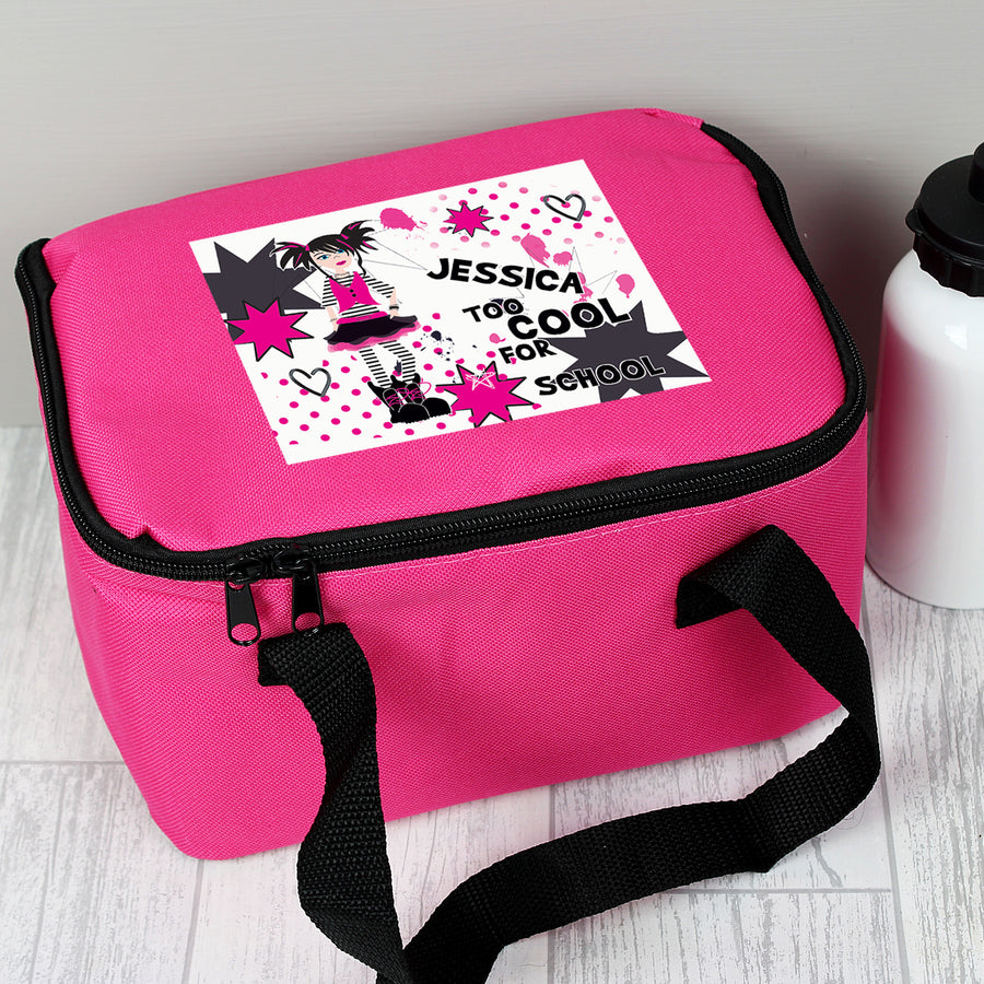 Personalised Too Cool Girl Lunch Bag - Personalised Gift From Personally Presented
