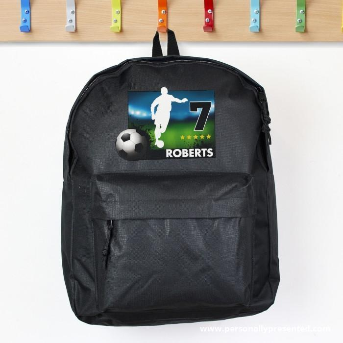 Personalised Team Player Black Backpack - Personalised Gift From Personally Presented