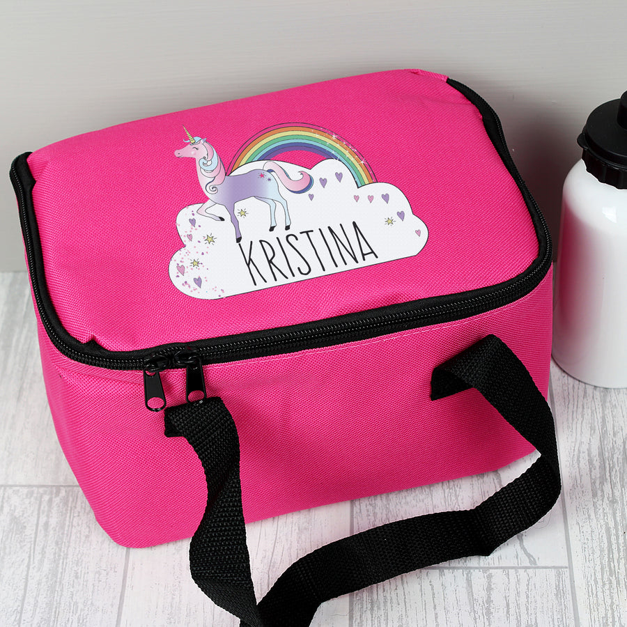 Personalised Unicorn Lunch Bag - Personalised Gift From Personally Presented