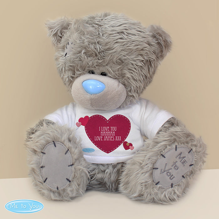 Personalised Me To You Bear with Heart T-Shirt - Personalised Gift From Personally Presented