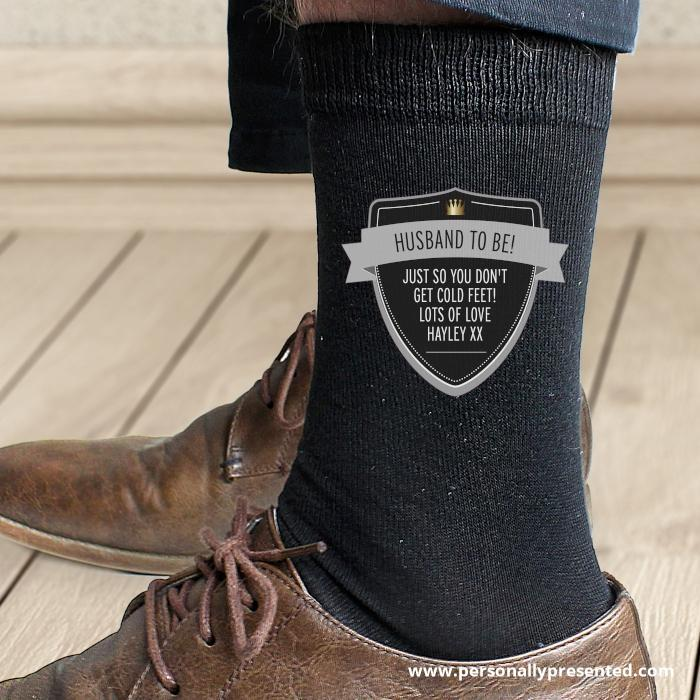 Personalised Classic Shield Men's Socks - Personalised Gift From Personally Presented