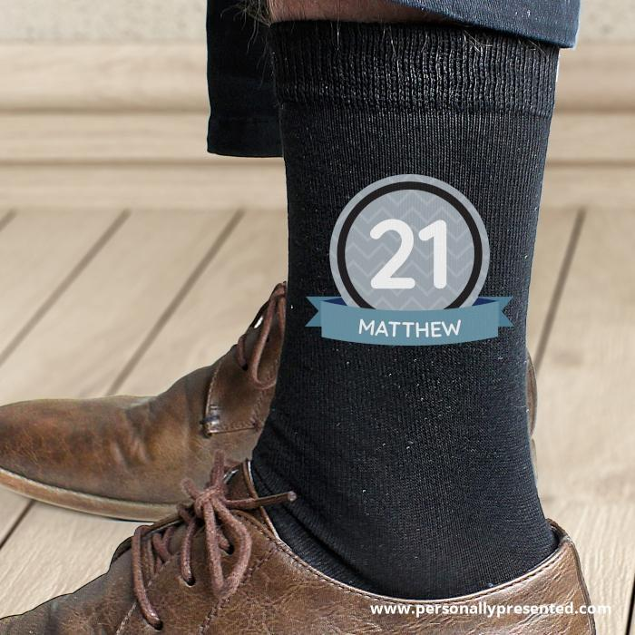 Personalised Birthday Men's Socks - Personalised Gift From Personally Presented