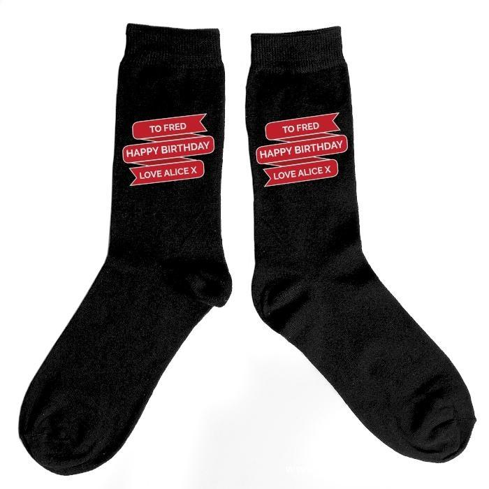 Personalised Banner Design Men's Socks - Personalised Gift From Personally Presented