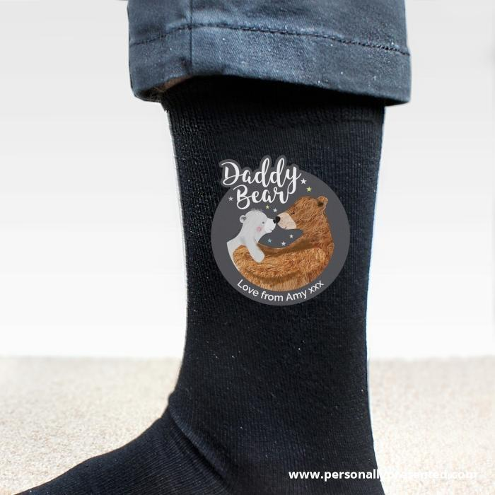 Personalised Daddy Bear Men's Socks - Personalised Gift From Personally Presented