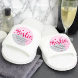 Personalised #Bestie Slippers - Personalised Gift From Personally Presented
