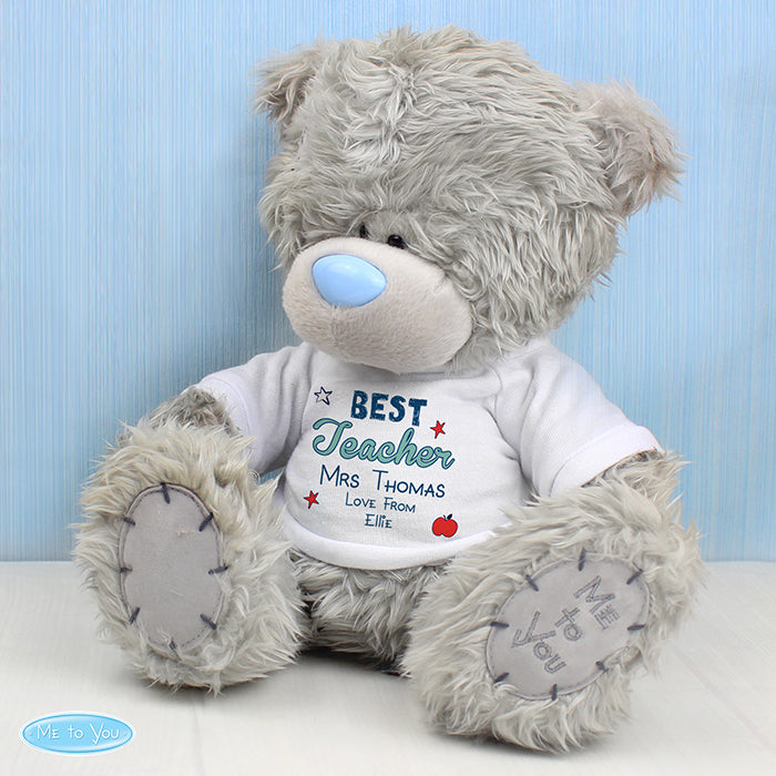 Personalised Me to You Bear with Best Teacher T-Shirt - Personalised Gift From Personally Presented