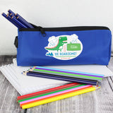 Personalised 'Be Roarsome' Dinosaur Blue Pencil Case - Personalised Gift From Personally Presented