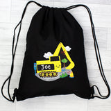 Personalised Digger Black Swim & Kit Bag - Personalised Gift From Personally Presented