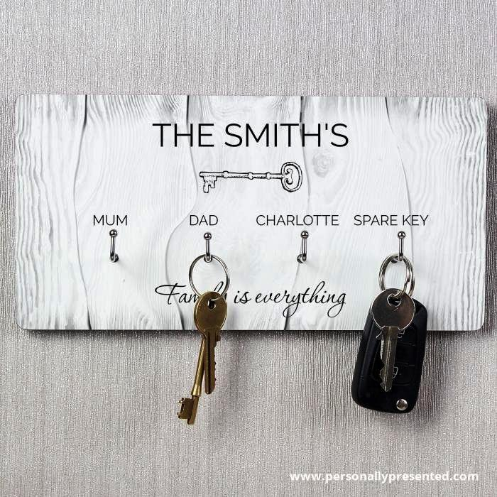 Personalised Keys Hooks - Personalised Gift From Personally Presented