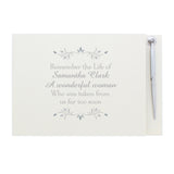 Personalised Sentiments Guest Book & Pen - Personalised Gift From Personally Presented