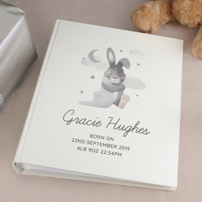 Personalised Baby Bunny Album with Sleeves - Personalised Gift From Personally Presented