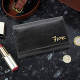 Personalised Gold Name Black Purse - Personalised Gift From Personally Presented