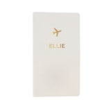 Personalised Gold Name Travel Document Holder - Personalised Gift From Personally Presented