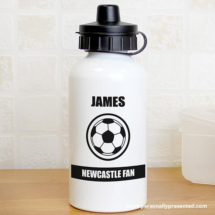 Personalised Football Fan Drinks Bottle - Personalised Gift From Personally Presented