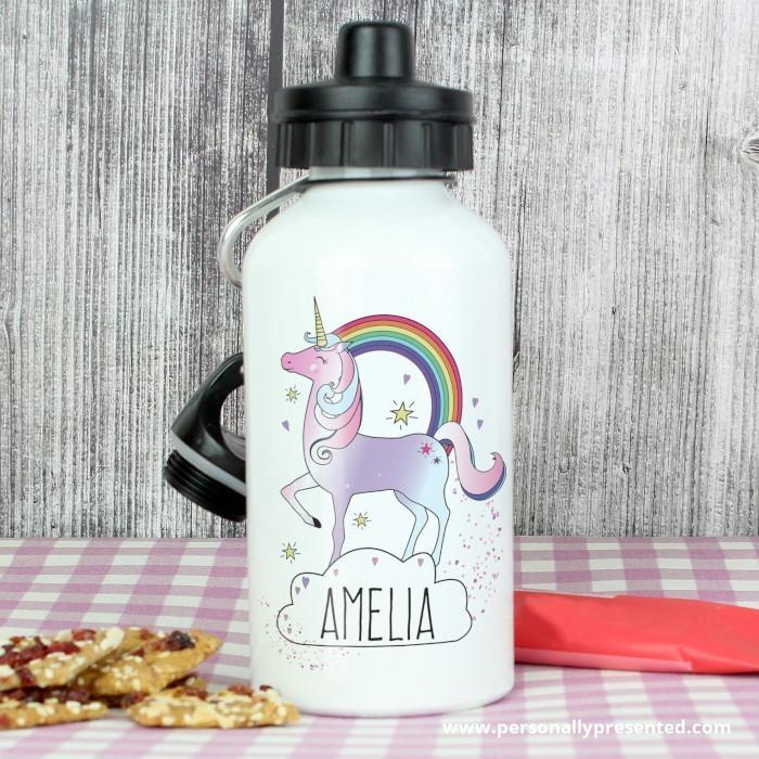 Personalised Unicorn Drinks Bottle - Personalised Gift From Personally Presented