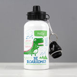 Personalised 'Be Roarsome' Dinosaur Drinks Bottle - Personalised Gift From Personally Presented