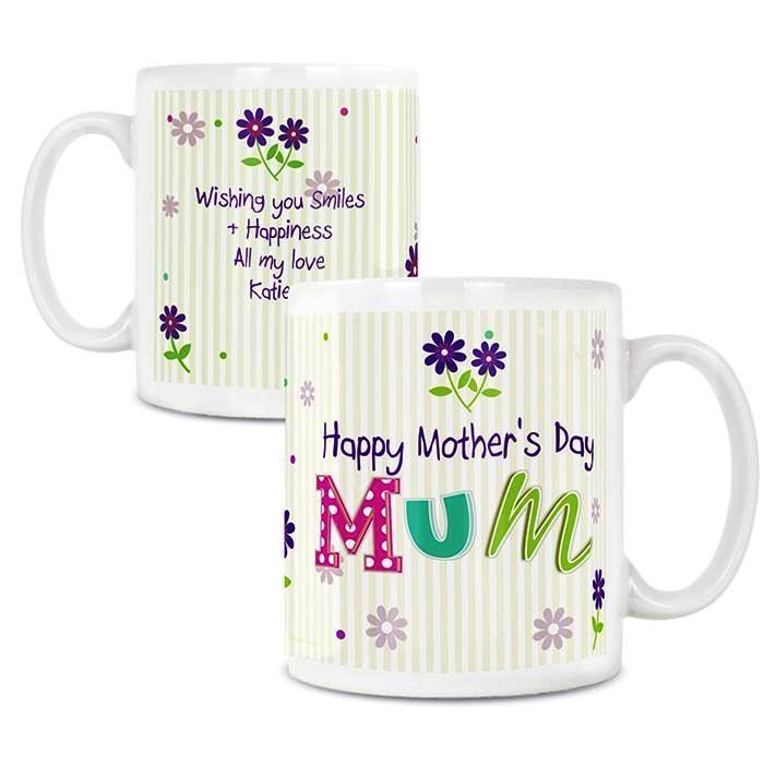 Personalised Patchwork Flowers Mug - Personalised Gift From Personally Presented