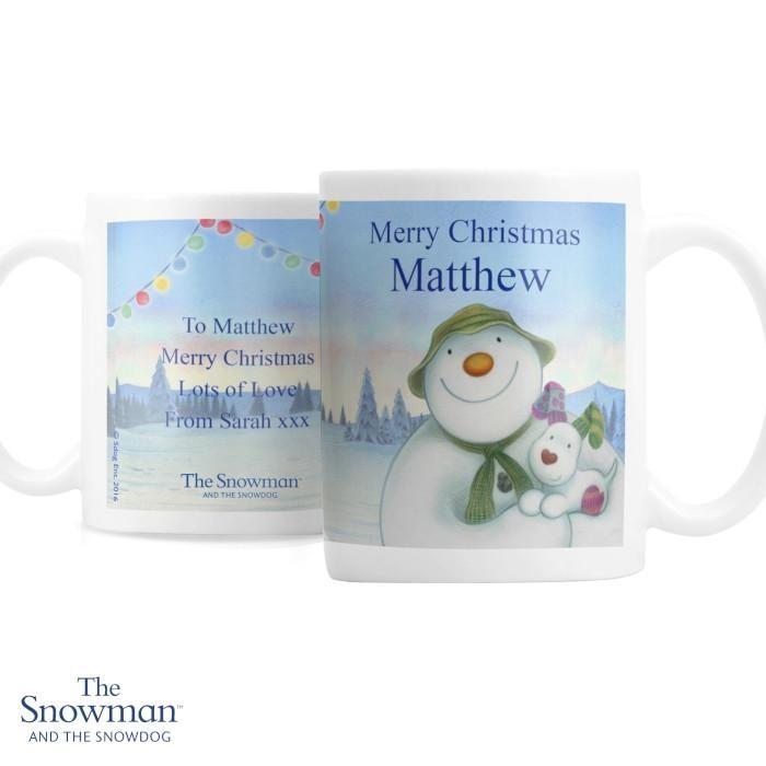 Personalised The Snowman and the Snowdog Mug - Personalised Gift From Personally Presented