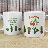 Personalised Cactus Mug - Personalised Gift From Personally Presented