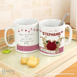 Personalised Boofle Shared Heart Mug - Personalised Gift From Personally Presented