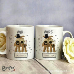 mr and mrs personalised coffee mugs
