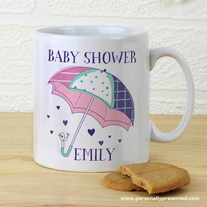 Personalised Baby Shower Umbrella Mug - Personalised Gift From Personally Presented