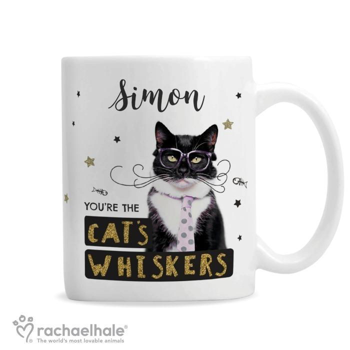 Personalised Rachael Hale 'You're the Cat's Whiskers' Mug - Personalised Gift From Personally Presented
