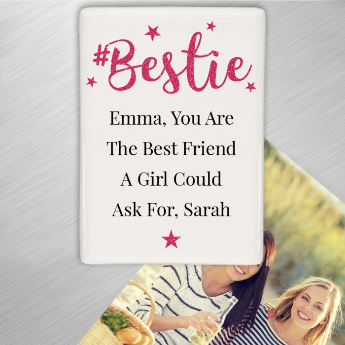 Personalised #Bestie Fridge Magnet - Personalised Gift From Personally Presented