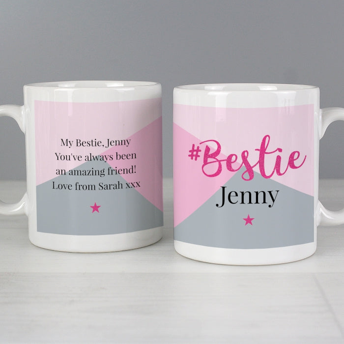 Personalised #Bestie Mug - Personalised Gift From Personally Presented