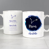 Personalised Pisces Zodiac Star Sign Mug (February 19th - March 20th) - Personalised Gift From Personally Presented