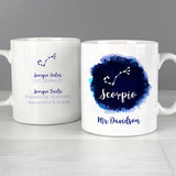 Personalised Scorpio Zodiac Star Sign Mug (October 23rd - November 21st) - Personalised Gift From Personally Presented
