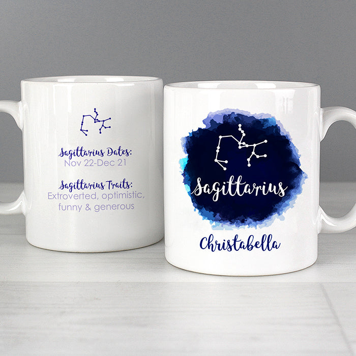 Personalised Sagittarius Zodiac Star Sign Mug (November 22nd - December 21st) - Personalised Gift From Personally Presented