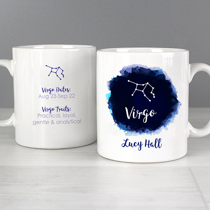 Personalised Virgo Zodiac Star Sign Mug (August 23rd - September 22nd) - Personalised Gift From Personally Presented