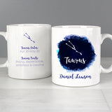 Personalised Taurus Zodiac Star Sign Mug (April 20th - May 20th) - Personalised Gift From Personally Presented