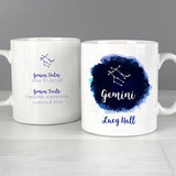 Personalised Gemini Zodiac Star Sign Mug (May 21st - June 20th) - Personalised Gift From Personally Presented