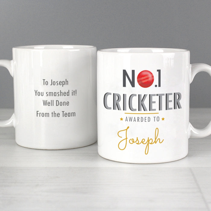 Personalised No.1 Cricketer Mug - Personalised Gift From Personally Presented
