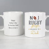 Personalised No.1 Rugby Player Mug - Personalised Gift From Personally Presented