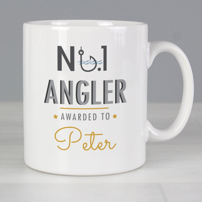 Personalised No.1 Angler Mug - Personalised Gift From Personally Presented