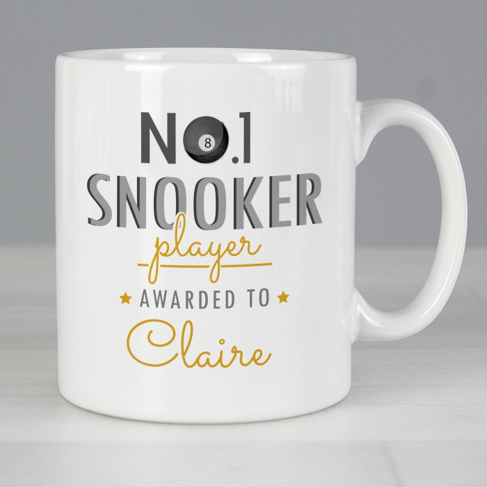 Personalised No.1 Snooker Player Mug - Personalised Gift From Personally Presented