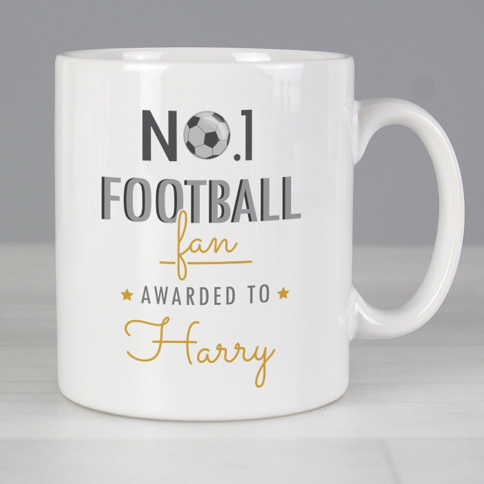 Personalised No.1 Football Fan Mug - Personalised Gift From Personally Presented