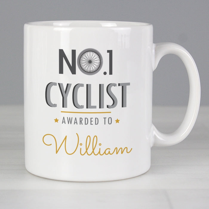 Personalised No.1 Cyclist Mug - Personalised Gift From Personally Presented
