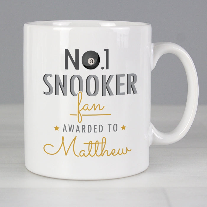 Personalised No.1 Snooker Fan Mug - Personalised Gift From Personally Presented