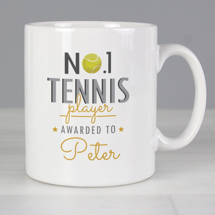 Personalised No.1 Tennis Player Mug - Personalised Gift From Personally Presented