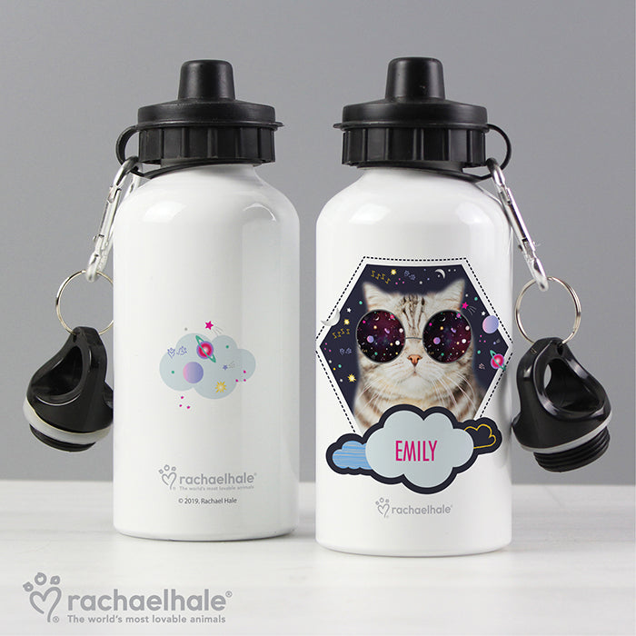 Personalised Rachael Hale Space Cat Drinks Bottle - Personalised Gift From Personally Presented