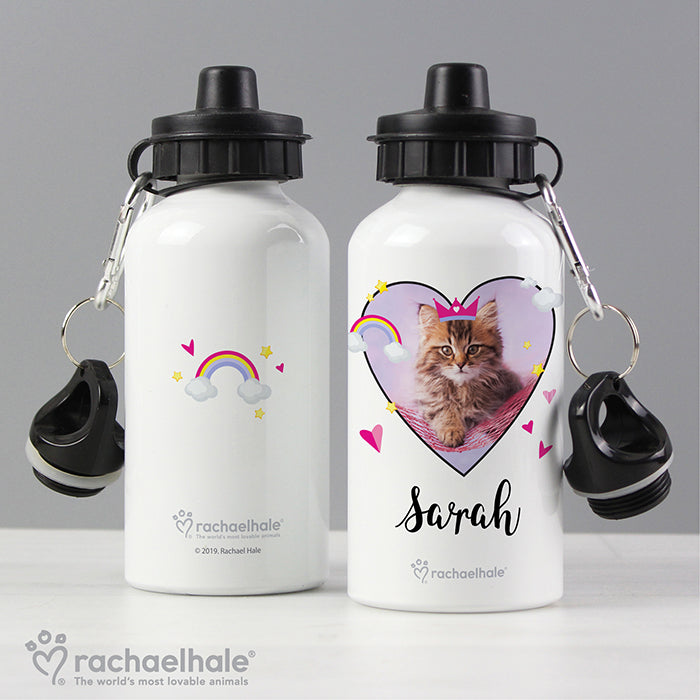 Personalised Rachael Hale Cute Cat Drinks Bottle - Personalised Gift From Personally Presented