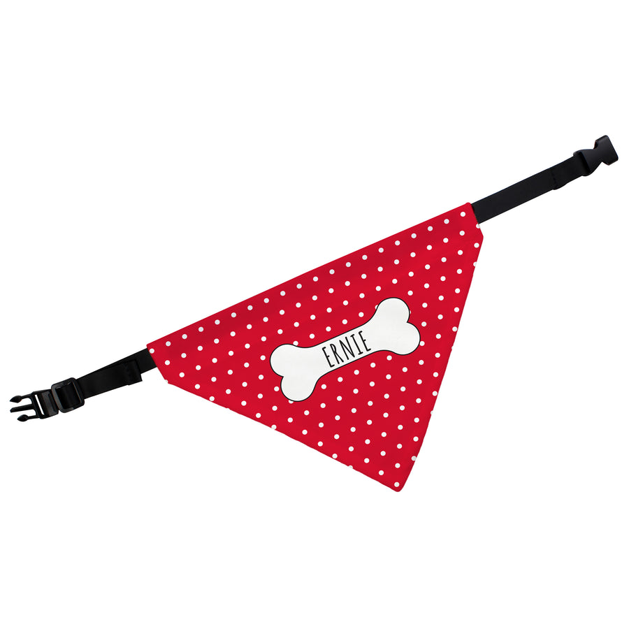 Personalised Red Polka Dot Dog Bandana - Personalised Gift From Personally Presented
