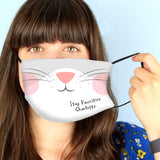 Personalised Cat Face Covering - Personalised Gift From Personally Presented