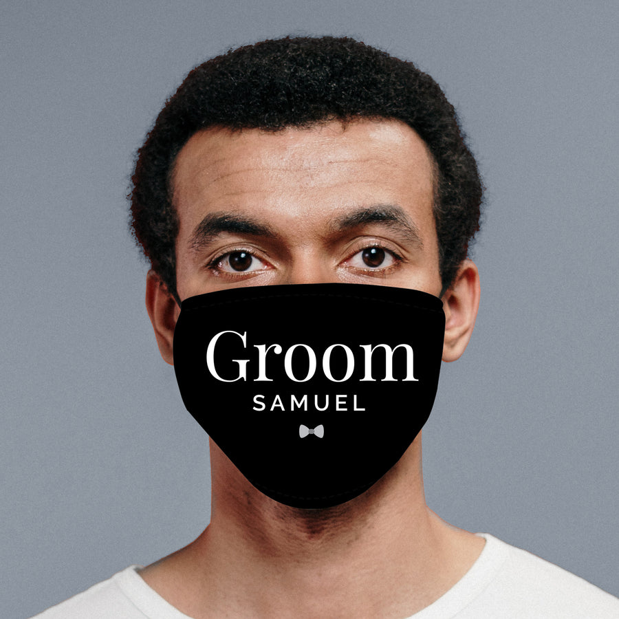 Personalised Groom Face Covering - Personalised Gift From Personally Presented