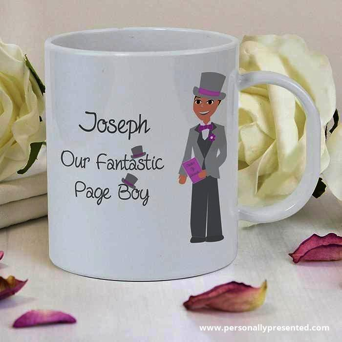 Personalised Fabulous Pageboy Plastic Cup - Personalised Gift From Personally Presented