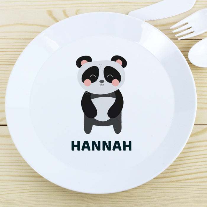Personalised Panda Plastic Plate - Personalised Gift From Personally Presented